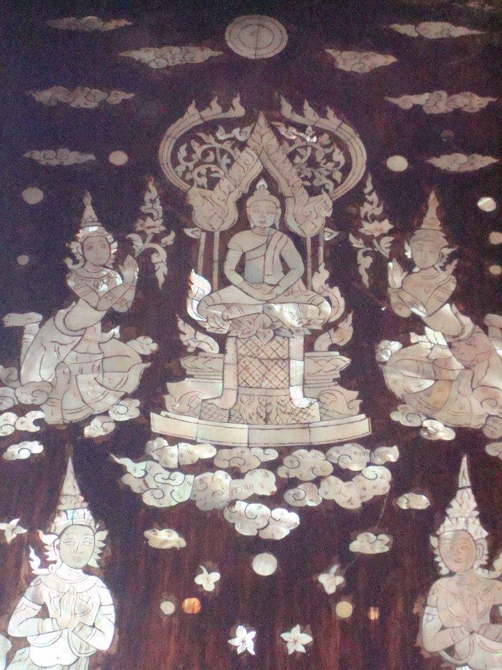 โบสถ์ไม้สักทองฝังมุก หนึ่งเดียวในประเทศไทย วัดศรัทธาธรรม ตำบลบางจะเกร็ง เมืองสมุทรสงคราม จังหวัดสมุทรสงคราม