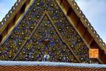 หน้าบัน ของอุโบสถ วัดมหาธาตุยุวราชรังสฤษฎิ์ราชวรมหาวิหาร กรุงเทพมหานคร
