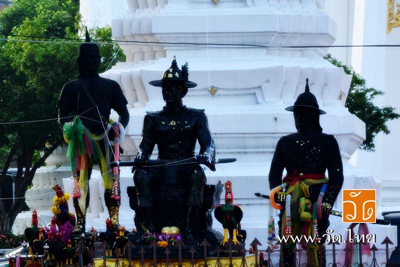สมเด็จพระเจ้าตากสิน พระยาพิชัย และ หมื่นหาญณรงค์ (บุญเกิด) ณ วัดราชคฤห์วรวิหาร [วัดมอญ] (Wat Rajkrue