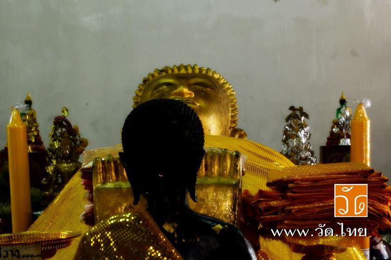 พระพุทธรูปปางถวายพระเพลิง (หลวงพ่อนอนหงาย) พระพุทธรูปบรรทมหงาย วัดราชคฤห์วรวิหาร [วัดมอญ] (Wat Rajkr