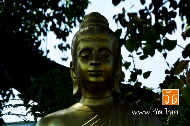 พระพุทธรูป ใต้ต้นศรีมหาโพธิ์ วัดราชคฤห์วรวิหาร [วัดมอญ] (Wat Rajkrueh) ตั้งอยู่เลขที่ 434 ถนนเทอดไท