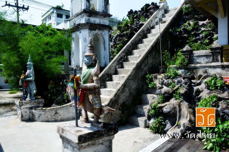 บันไดยักษ์ ทางขึ้นเขามอ วัดราชคฤห์วรวิหาร [วัดมอญ] (Wat Rajkrueh) ตั้งอยู่เลขที่ 434 ถนนเทอดไท แขวงบ