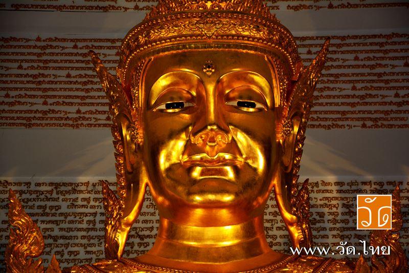 พระพุทธปาฏิหาริย์ศรีอริยเมตไตรย พระประธานพระอุโบสถ วัดประยงค์กิตติวนาราม 22 หมู่ 4 ถนนประชาสำราญ แขว